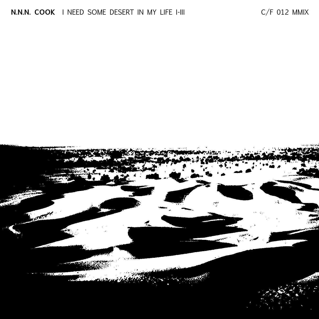 N.N.N. Cook, I Need A Little Desert In My Life Album Art
